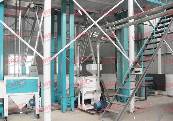 100tpd corn flour mill inner workshop
