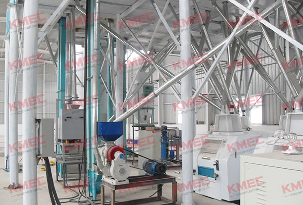 100tpd corn flour milling workshop view
