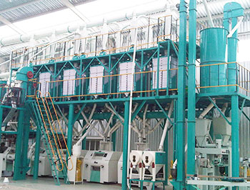 100tpd maize flour mill
