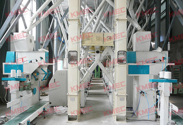 160tpd wheat flour mill plant