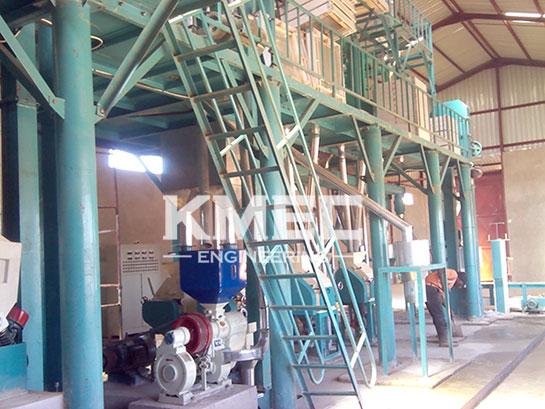 50tpd medium maize flour milling plant