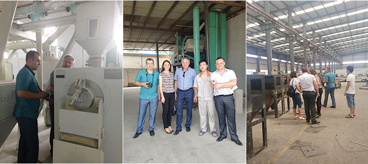 Ukraine customer visit for corn flour and grits mill