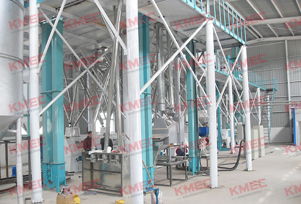 corn flour milling part after installation