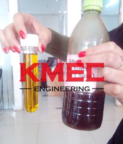 crude fish oil and refined oil