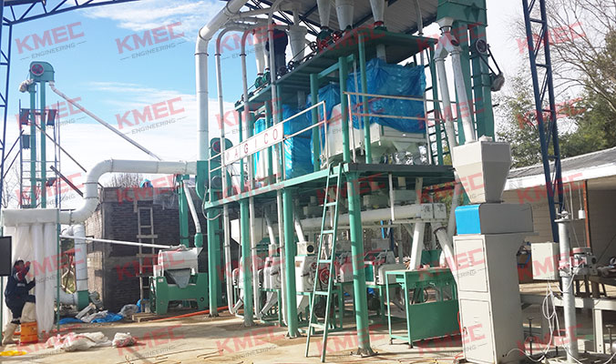 30TPD wheat flour mill project installation and debugging in Chile