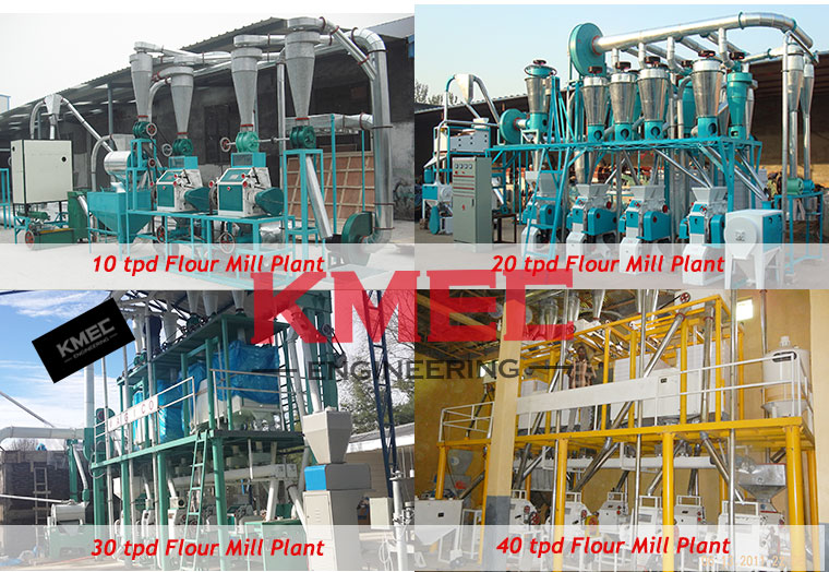 c10-40TPD small flour mill plant