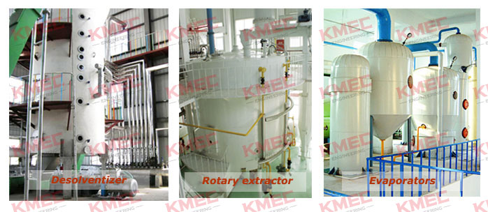 main machinery for solvent extraction process