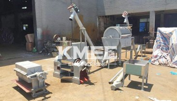 5TPD oil pressing assembly unit for peanuts export to Sudan